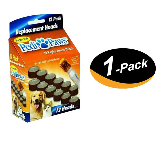 (1 Pack) 12 Pedipaws Replacement Filing Heads Dog Cat Nail Grinder