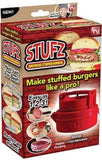As-onTV Stufz Stuffed Press Sealed Sliders Regular Burgers Pat, red