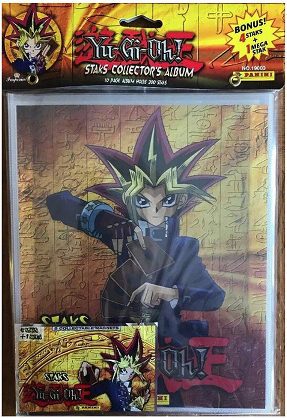 Yu-Gi-Oh Collector's Album With Bonus 4 Staks+1 Mega By Panini Nos