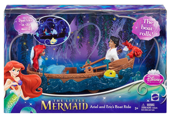 Disney The Little Mermaid Ariel and Eric's Boat Ride Playset