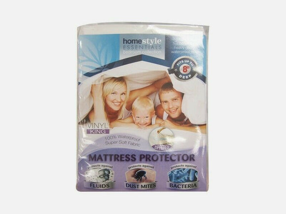 Vinyl Mattress Protector-Waterproof & Mite Proof  Cover-King Size