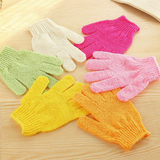4 Pairs Home Bath Shower scrub Soap Foam Skin Body Face Clean Gloves