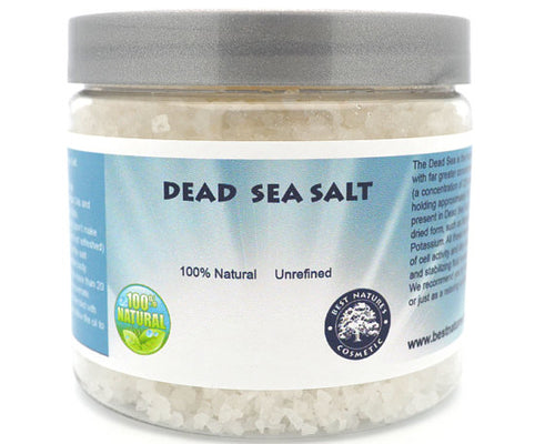 100% Natural Dead Sea Salt. Unrefined.