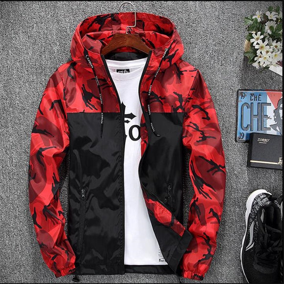 2019 Men's wear casual  camouflage jacket.