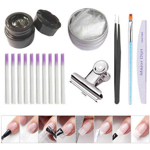 Fiberglass Nail Kit Fiber Glass Nails Extension Building Manicure Pen