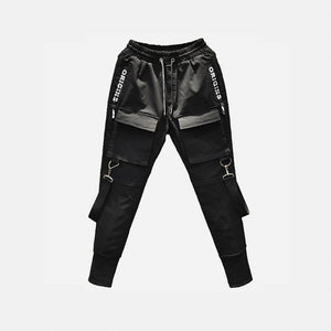 Men's Hip Hop Patchwork Cargo Ripped Sweatpants Joggers Trousers
