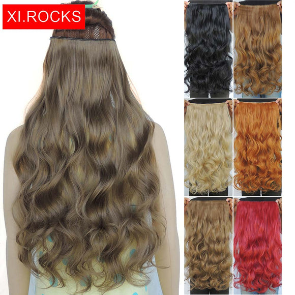 Rocks Curly Synthetic Hair Clip In Hair Extensions For Black Women Wavy  Wig