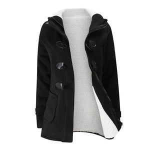 Winter Leather Jacket Coat Slim Parka for Women