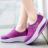 Women's Height Increasing Air Mesh Swing Wedges Casual Sneakers