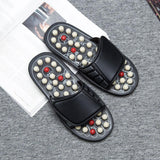 Acupuncture Healthy Relaxation Man And Women One Pair Foot Slipper Sandals Reflex Stress Rotating Foot Massage Shoes