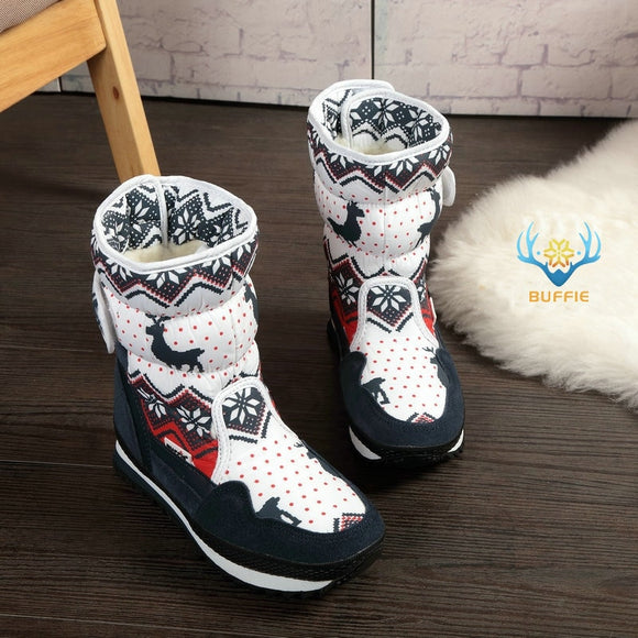 Women winter boots Lady warm shoes snow boot 30% natural wool insole cow suede toe plus size 35- 41 .