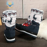 Women winter boots Lady warm shoes snow boot