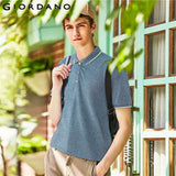 Men Solid Polo Shirt Pique Basic Essential Tops