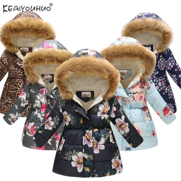 2019 Autumn Winter Girls Jackets and Coat Cotton-Padded Girls Clothes