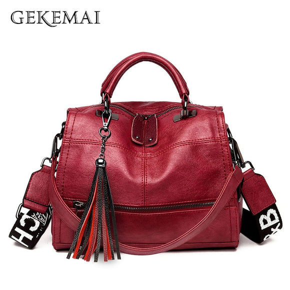 Designer Colored Strap Luxury Ladies Handbags Leather Women