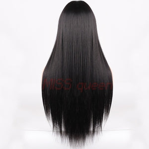 HAIR Blonde Long Straight  Hair Wigs Bang With Wig For Woman
