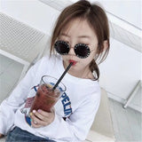 Steampunk Bee Kids Sunglasses Luxury Vintage Sunglasses Round