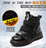Winter Boots Children Shoes  Boy Genuine Leather Martin Boots