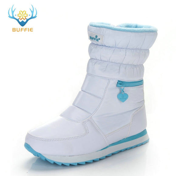 Winter boots women warm shoes snow boot 30% natural wool footwear white color