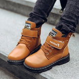 Children Boots Autumn And Winter Leather Snow Boots