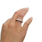 engagement band 4 colors stackable ring set