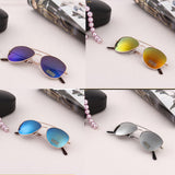 Kid Sunglasses Reflective Children Frog Mirror Color Sunglasses