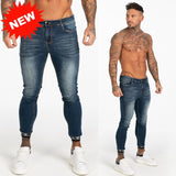 Mens Skinny Jeans 2019 Super Skinny Jeans Men Non Ripped Stretch  Pants Elastic Waist Big Size European