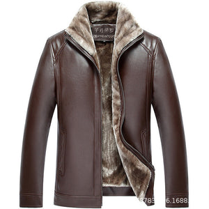 New Autumn Winter Men Leather Jacket