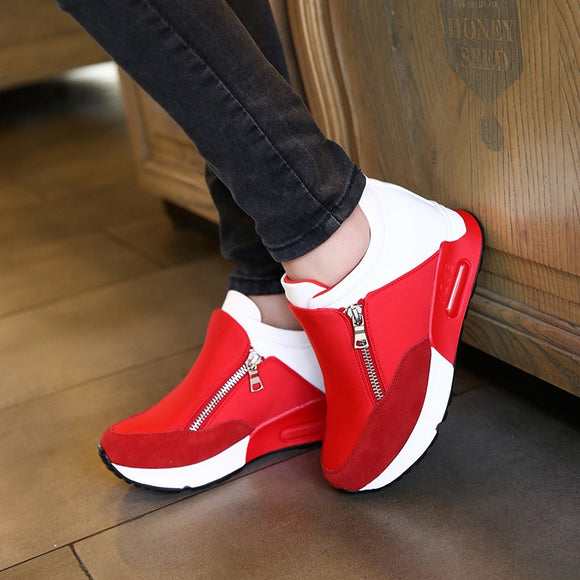 Women Casual Shoes Height Increasing Breathable Women Sneakers