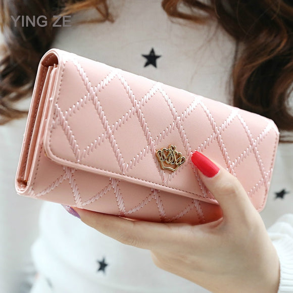Luxury Brand Women Wallets Long Zipper Coin Purses Fashion