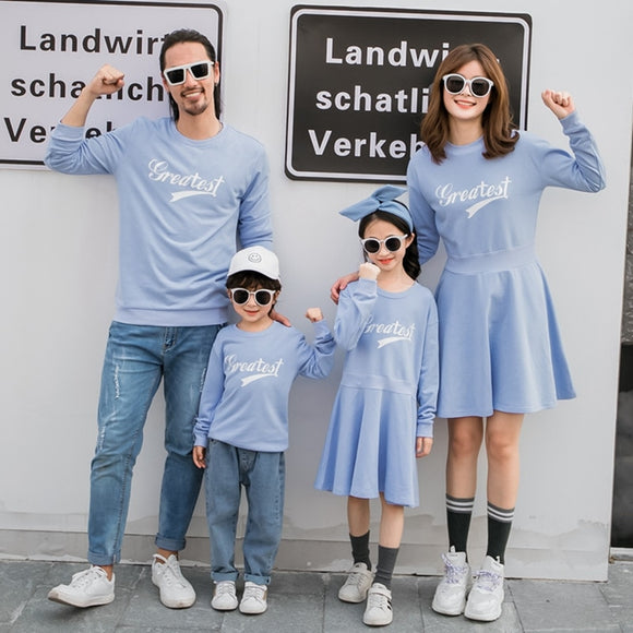 Family Matching New Autumn Winter Matching Causal Sweatshirts
