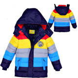Boys stripe Winter down coat Baby Winter Coat