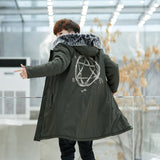 New Winter Long Style Warm Jacket for Men