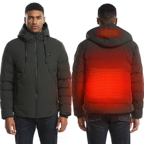 Men Electric Heated Jacket Heating Waistcoat USB Thermal Warm Cloth