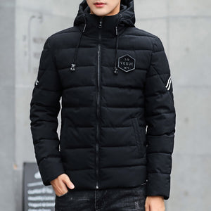 2019 Brand Casual Quality Mens Jackets and Coats Thick Men Outwear 4XL Male Clothing Winter Fashion Hooded Men's Jacket