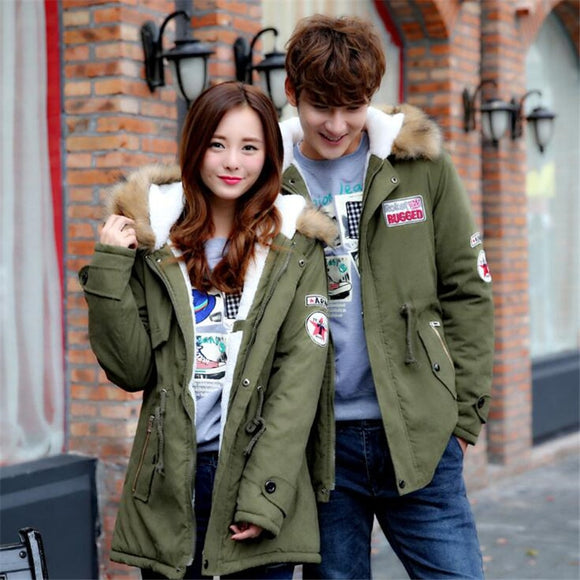 Men Coats Winter Slim Thicken Fur Warm Brand Clothing Casual Coat