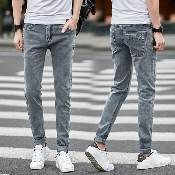Design Denim Skinny Jeans Distressed Men New 2019 Spring Autumn Clothing