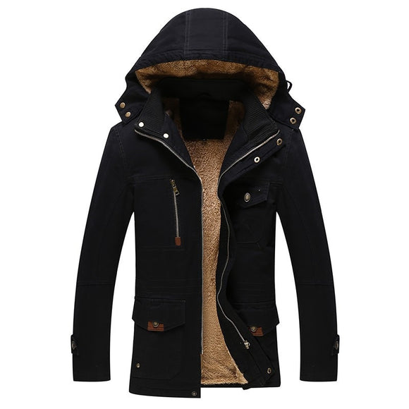 Hot High-grade winter men warm hooded jacket coat