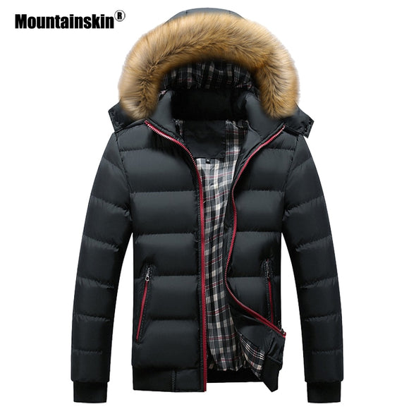 Men's Winter Jackets Thick Hooded Fur Collar Parka Men Coats
