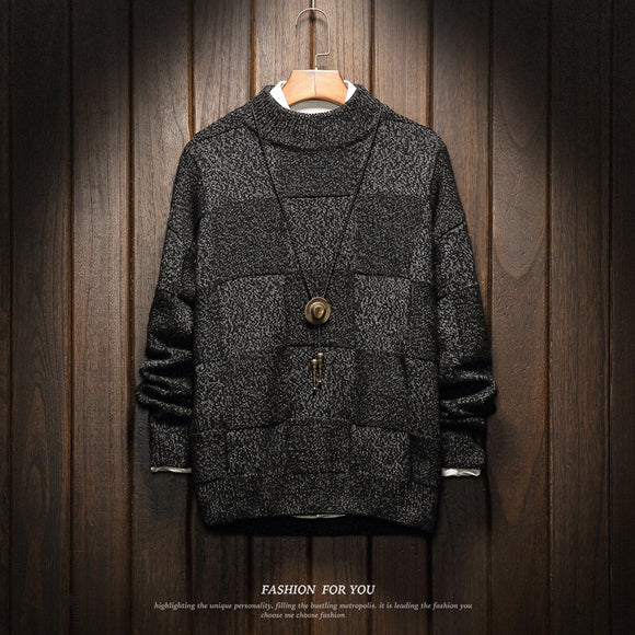 Men Sweater Winter 2019 Plus Size Asian Japan Style Standard Designer