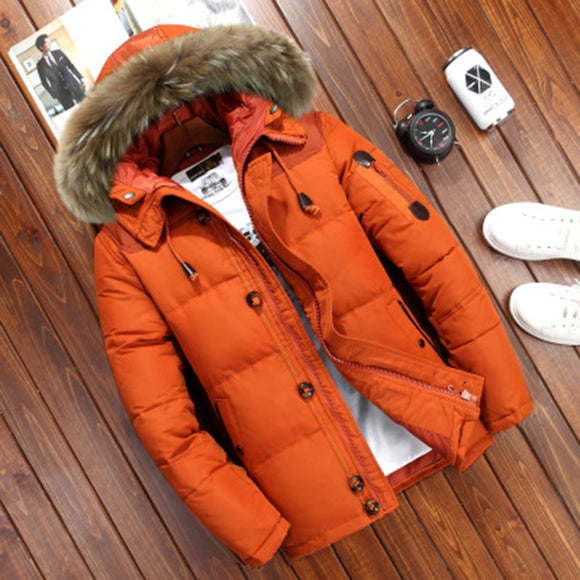 Winter Jacket Men White Duck Down Parkas Jacket