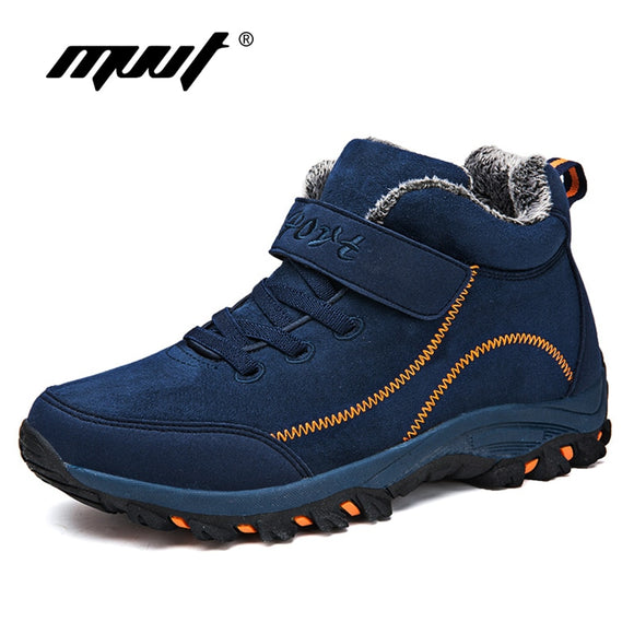 Men Boots with Fur Warm Snow Women Boot Sneakers