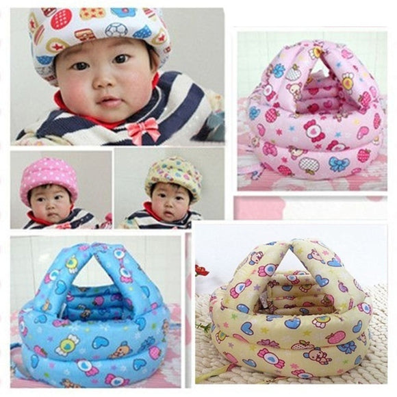 Baby Hat Safety Helmet Boys Girls Cotton Adjustable Protective Winter Walk Head
