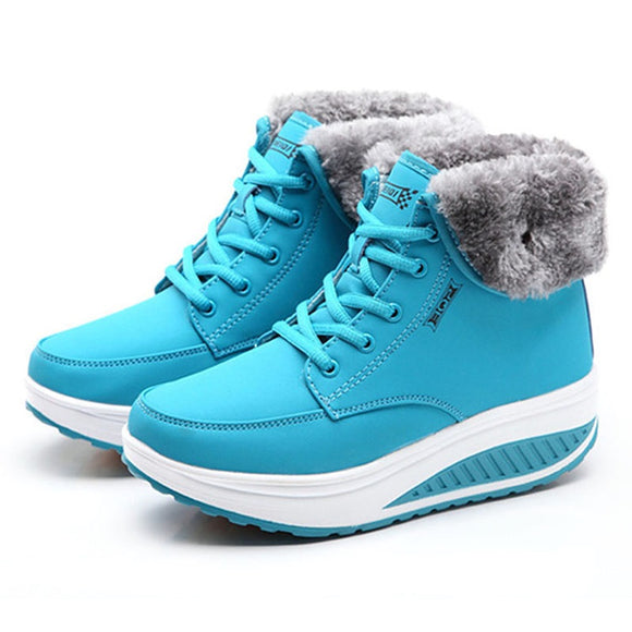 Women Boots Platform Women Shoes Plush Warm Snow Boots