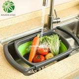 Foldable Colander Drain Folding Baskets Collapsible Kitchen