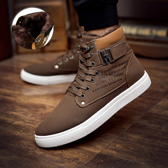 men  fashion  warm  flat with sneakers