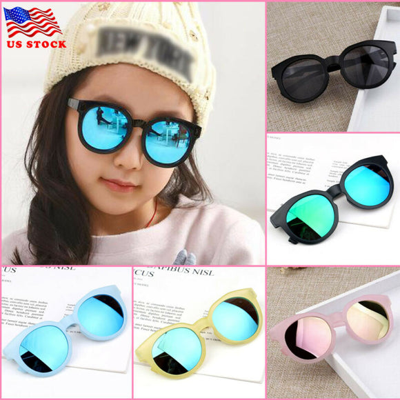 Goocheer Kids Sunglasses Black Retro UV Protection Glasses