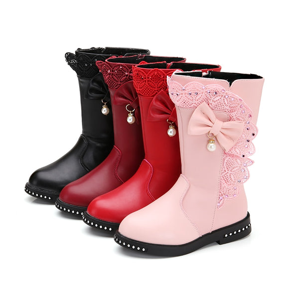 Autumn Kids single snow boots winter warm girls boots