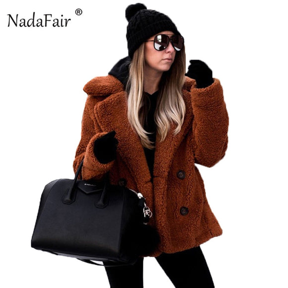 Teddy Coat Winter Fleece Plus Size Warm Thick Jacket Women