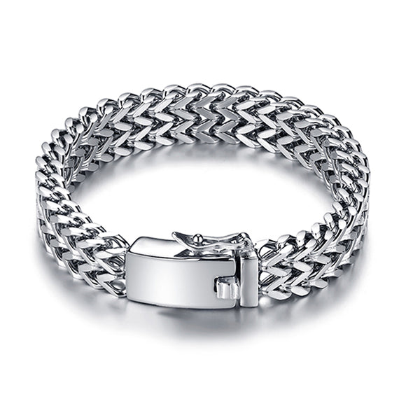 Classic fashion stainless steel chain bracelet men's custom Buddha bracelet